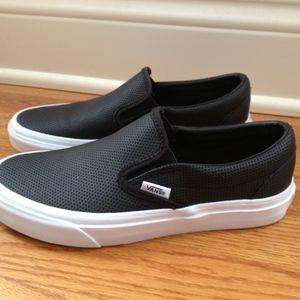 Vans Perf Leather Slip-Ons